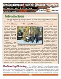 Factsheet on mechanical fuels reduction by OSU college of forestry