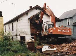 Building demolition beginning