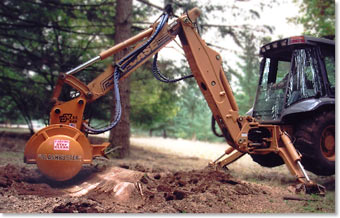 sg240 mounted on backhoe