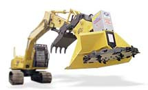 HD 482 brush cutter on standard front excavator